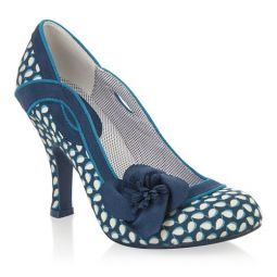 Issy (Navy Floral) Court Shoes