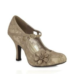 Elsy (Gold Lace) Mary Janes
