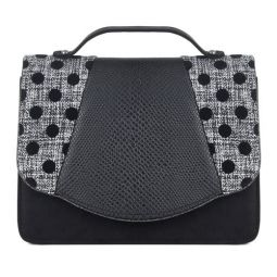 Belfast (Black Spots) Cross Body Bag