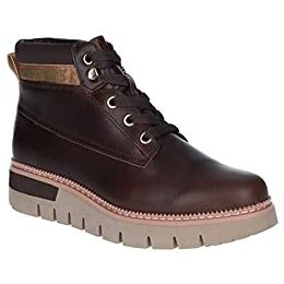 Caterpillar Pastime Wedge Lace Up Boots