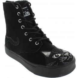 Embroider Kitty Combat Boots