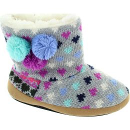 Patterned Sweater Slippers