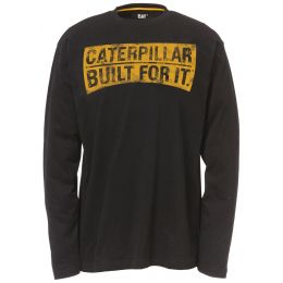 Caterpillar Curved Banner Long Sleeve T-Shirts