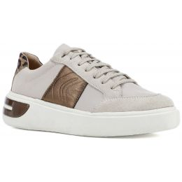 Geox D Ottaya F Lace Up Leather Trainerss