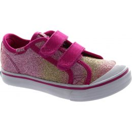 Glittery Hook & Loop Casual Shoes
